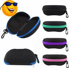 Zipper Sunglasses Case Box Eye Glasses Portable Clam Shell Protector Soft /Hard