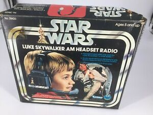 Vintage Star Wars Luke Skywalker Am Headset Radio Kenner 1977