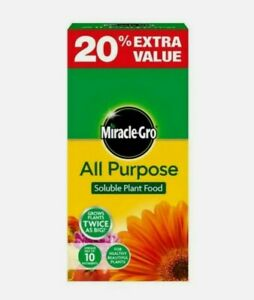 2 X Miracle-Gro All Purpose Soluble Plant Food 1.2kg Grow Plants Twice As Big!*