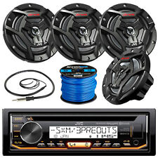 "JVC KDR99MBS Marine CD Player, 4x 100-W 6.5"" Speaker, Radio Antenna, 50Ft Wire"