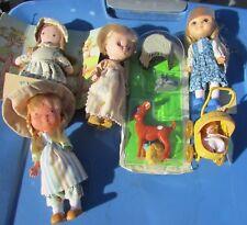 Holly Hobbie Playset Amy & Baby, Betsy Clark, Mandy Moppets Rare Knickerbocker