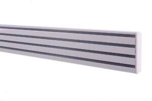 Gardinenschiene Aluminium Schiebevorhang Alu - weiß 4 läufig 0,20m bis 4,00m