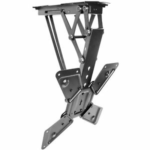 """Electric Motorized Flip Down Pitched Roof Ceiling TV Mount for 23"""" to 55"""" Screen"""