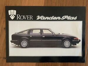 Vintage Rover Vanden Plas 3500 Sales  Brochure Specifications Etc Rare