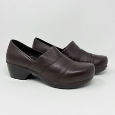 Dansko Womens Tenley Leather Clogs Nursing Comfort Brown Sz 42 US 11.5-12