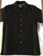 NWT Batik Bay Men's Short Sleeve Button   100% Silk   Pocket Shirt Sz S MSRP $50