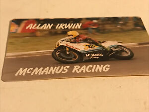 McManus Racing-Allan Irwin 1970's Sticker-Motorbikes/TT/Road Racing/Motorcycling