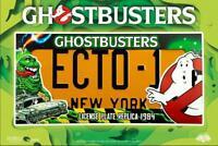 Ghostbusters Placa ECTO-1 License Plate Nuevo York Película Gadget Ghostbusters