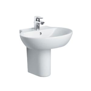 Sottini Bathroom Sink Ceramic Basin 550mm 1 Taphole Santorini E627201