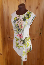 WALLIS beige peach lime olive green pink floral stretch shortsleeve tunic top 10