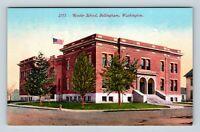 Bellingham WA, Roeder School, Vintage Washington Postcard