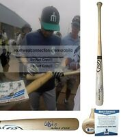 Ichiro Suzuki Mariners Signed Autograph Baseball Bat Yankees Proof BAS Beckett