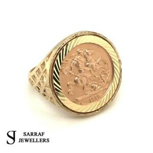 SOVEREIGN RING 375 9ct 9K YELLOW GOLD CLASSIC St George Dragon Slayer 1999