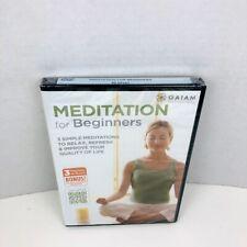 GAIAM Meditation for Beginners DVD Mindfulness + Yoga New Sealed