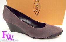 TODS Size 8 Light Purple Suede Wedge Heels 38 1/2 Shoes 38.5