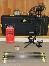 """Completely LOADED, Black BOWTECH RPM 360 Bow Package-50 to 60 lb- 24 to 30"""" draw"""