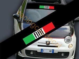 Fiat Italy Flag Sun Strip Visor Windshield Decal Sticker italian 131 500 c bravo