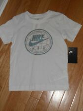 NWT - Nike Air short sleeved white & silver shirt - 4 boys