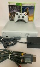 New listing Microsoft Xbox 360 White with Halo 3 / Halo Reach Games - Tested