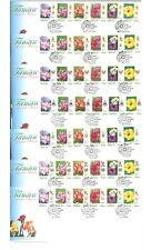 Malaysia 2007 Garden Flowers States Definitive Stamps 14 First Day Covers FDC