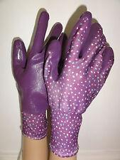 Briers All Season Weed & Seed Gardening Gloves Purple Spotty Seedling
