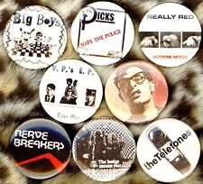 "Texas punk 8 NEW 1"" buttons pins badge bobby soxx Vomit Pigs Dicks AK47 Big Boys"