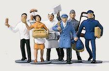 Merten 0800 h0, venditore e servizio uomini, dipinta a mano, 6, Personaggi NUOVO