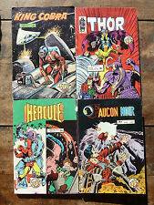 Lot de 4 anciennes BD adulte comics, Hercule, faucon noir, king cobra, thor