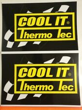 2pcs Cool It Thermo Tec Sticker Decal Hot Rods Classic Cars