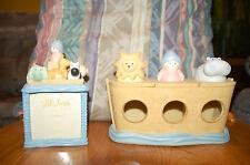 NOAH'S ARK NURSERY JAR  & PICTURE KEEPSAKE BOX CHERI LANE BABY NURSERY