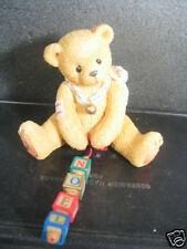 Cherished Teddies Nolan Bear With Dangling Blocks Mib
