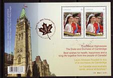 CANADA 2011 WILLIAM AND CATHERINE  MINIATURE SHEET FINE USED