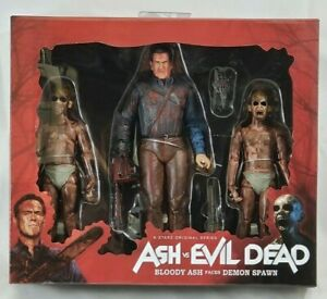 MISP NECA Ash vs Evil Dead BLOODY FACES DEMON SPAWN Series TV Show 3 pack set