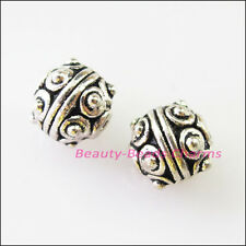 10Pcs Tibetan Silver Round Ball Spacer Beads Charms 7.5mm
