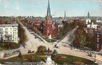 Washington, DC - Thomas Circle - 1916 - trolley, horse & buggy