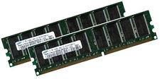 2x 1gb = 2gb Samsung RAM PC memoria DDR 400 MHz pc3200 Intel 64mx8 Low Density