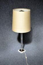 CHROME verre lampe de table Lampe sur pied Kaiser Kalmar ère