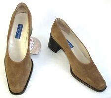 ALAIN BASTIANI - Chaussures petits talons tout cuir daim marron 40 EXCEL. ETAT