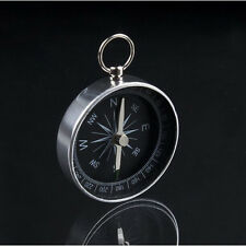 Silver Mini Portable Pocket Compass For Camping Hiking Navigation KEY RING #UK#