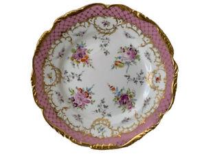 Antique Richard Klemm Dresden Meissen Porcelain Floral Plate