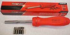 NEW Snap-on SSDMR4BR Ratcheting Hard Handle screwdriver - Red