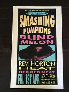 Smashing Pumpkins, Blind Melon, Rev. Horton Heat - Silkscreen by Lee Bolton - 94