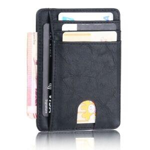Men's Slim RFID Blocking Leather Wallet Credit ID Card Holder Money Purse Pocket