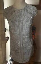Silver Beaded Front Dress By LIPSY. UK 10. ITA 42. BNWT.