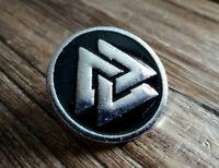 Anstecker Metal Pin Vikings Wikinger Wotan Odin Metal Kutte Valknut Pin