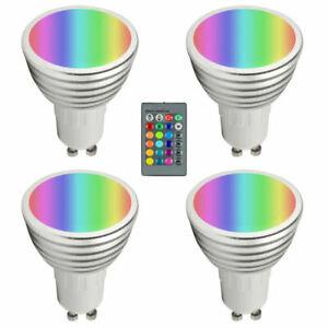 RGB+WW LED Spot GU10 4W  Dimmbar RGBWW Farbwechsel Fernbedienung Memory
