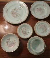 Lot 18 Of Adams Calyx Ware Metz Dinner, Bread Plates & Berry, Cereal, Soup Bowls