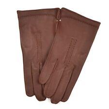 Ungefüttert Handschuhe Gloves Gr 8 1/2 Braun Brown Leder Leather #HERBST Classic