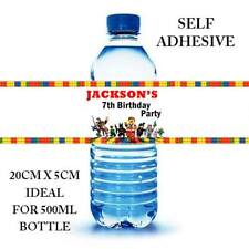LEGO MOVIE PERSONALISED WATER BOTTLE LABEL WRAPPER STICKER BIRTHDAY PARTY