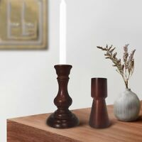 Wooden Pillar Retro Mantel Candle Holder Candlestick Home Decor Candle Stand